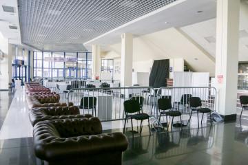 Мобильный центр вакцинации переехал в другое помещение во дворце спорта «Янтарный»