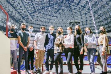Завершился первый поток школы спортивной журналистики во дворце спорта «Янтарный»
