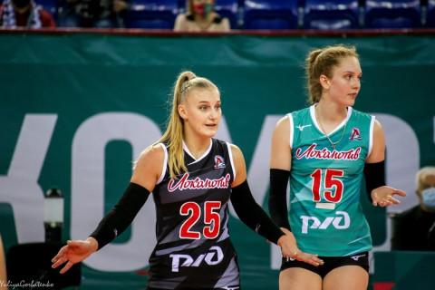 Третий тур игр по волейболу среди женских команд Высшей лиги